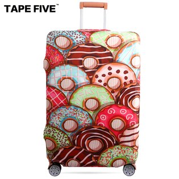 E&J【021001-25】TapeFive我愛甜甜圈高彈性行李箱套;適用27-29吋防塵套防刮行李箱保護套