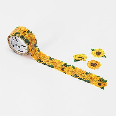 【日本Bande】紙膠帶系列自由配貼紙BDA234小朵向日葵捲