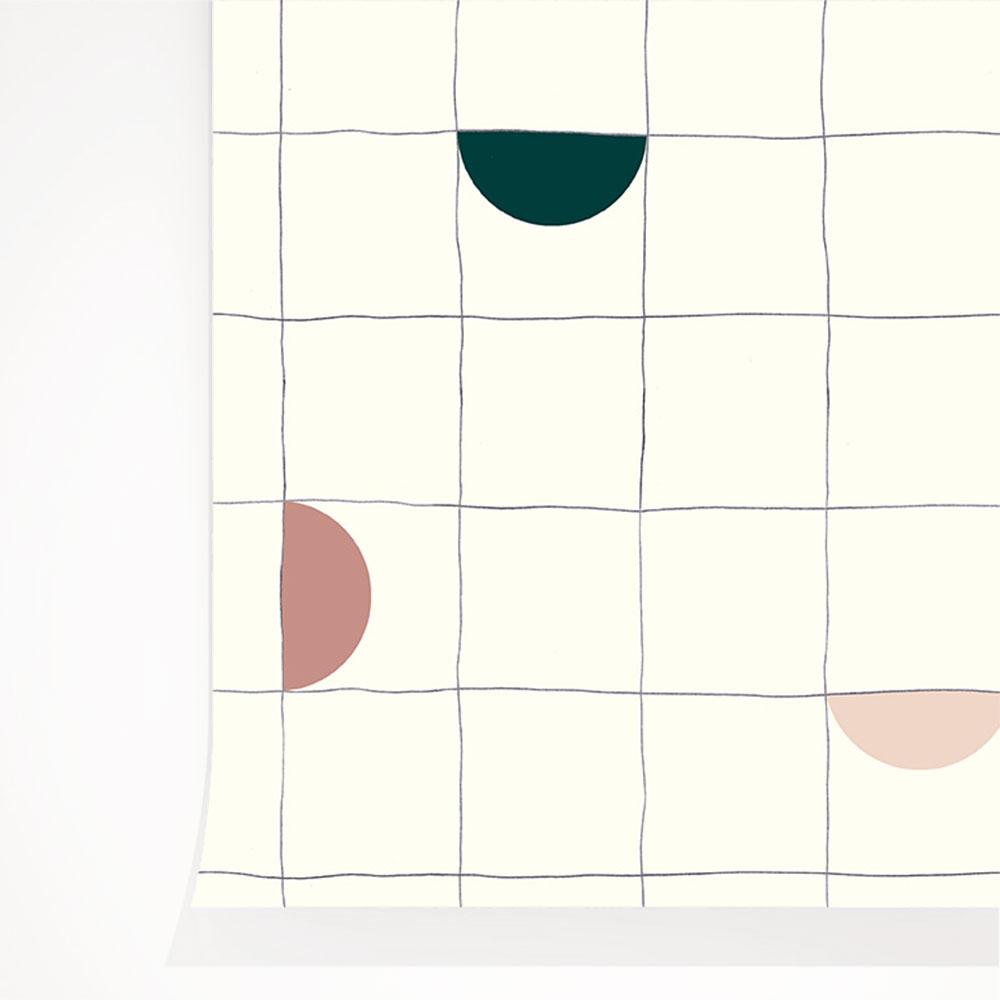 法國壁紙 格子紋圖案  2色可選  Season Paper x Heju合作壁紙 3