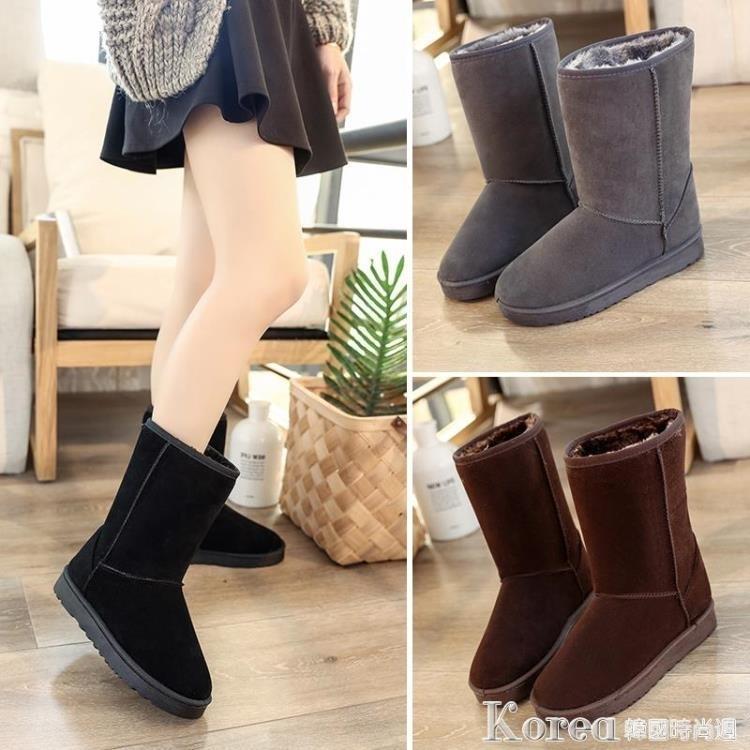 雪靴 雪地靴女秋冬季新款韓版百搭學生中筒短靴加絨靴子平底女靴潮