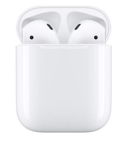 ( 刷指定卡享10%回饋 )APPLE原廠盒裝套組-APPLE AirPods(二代) 搭配(有線)充電盒+Apple 5W USB充電器 轉接頭+Lightning 對 USB 連接線 (1公尺)