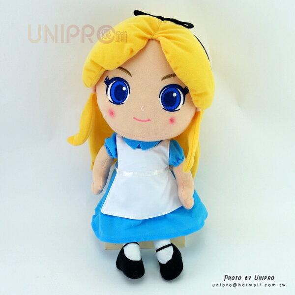 【UNIPRO】晶漾大眼愛麗絲公主36公分絨毛玩偶娃娃布偶迪士尼正版授權Alice