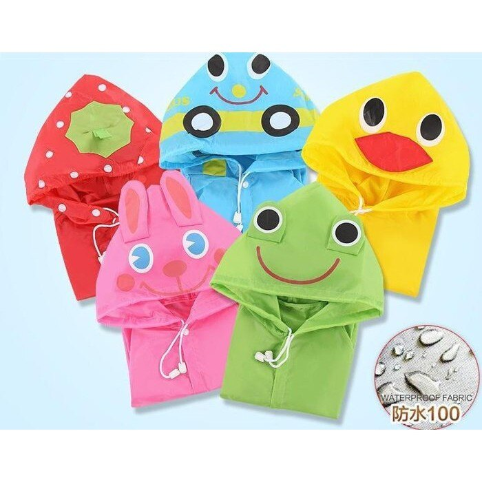 寶貝屋 兒童雨衣 卡通 雨衣 附收納袋 男童女童兒童雨衣動物防水 輕便防風寶寶雨衣