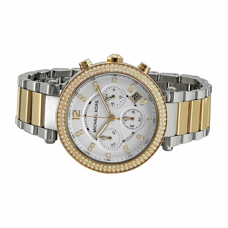 美國Outlet正品代購 MichaelKors MK  金銀色陶瓷 水鑽 三環 手錶 腕錶 MK5626 4