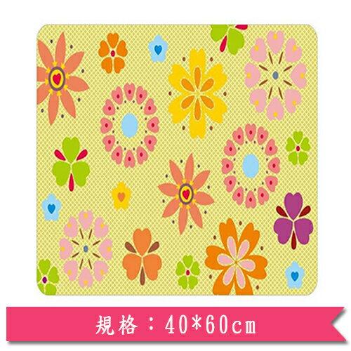 印花刮泥地墊-花朵(40*60cm)【愛買】