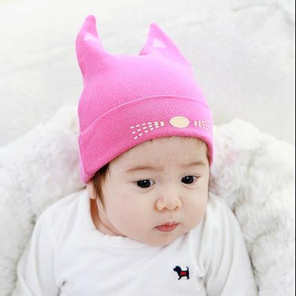 春秋冬季男女寶寶初生嬰兒帽子滿月帽造型帽-小貓咪