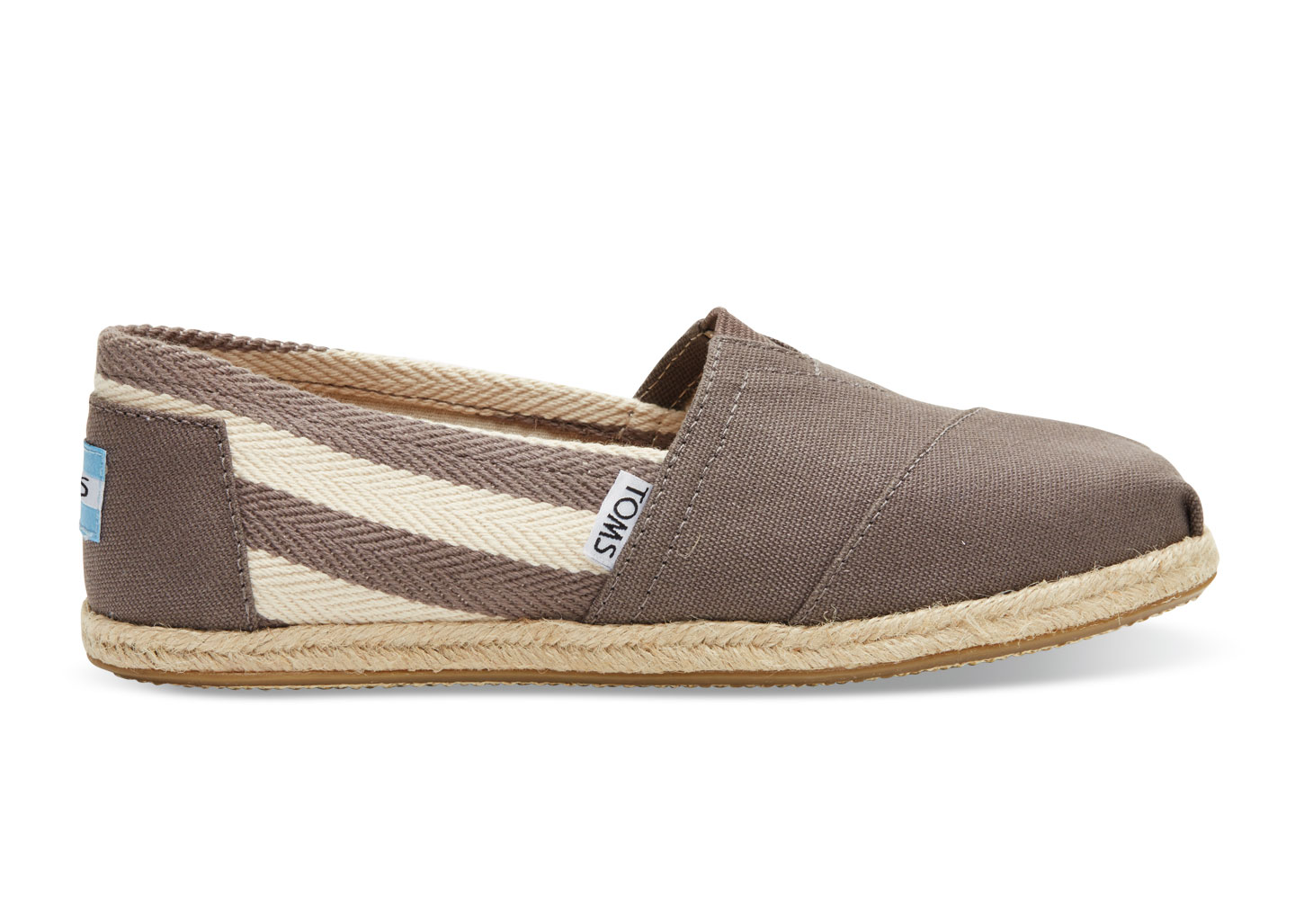 【TOMS】灰色寬條紋學院風平底鞋  Dark Grey Stripe University Women's Classics 2