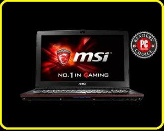 MSI微星 GP62 6QF-847TW-BB7670H8G1T0DS10MH 15.6吋筆電i7 6700HQ/8GB/128G SSD +1TB/GTX960M 4G/W10/白色背光電競鍵