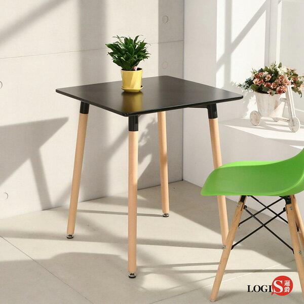 LOGIS邏爵-自然簡約北歐寬60cm方形桌方桌工作桌書桌休閒桌T6060B