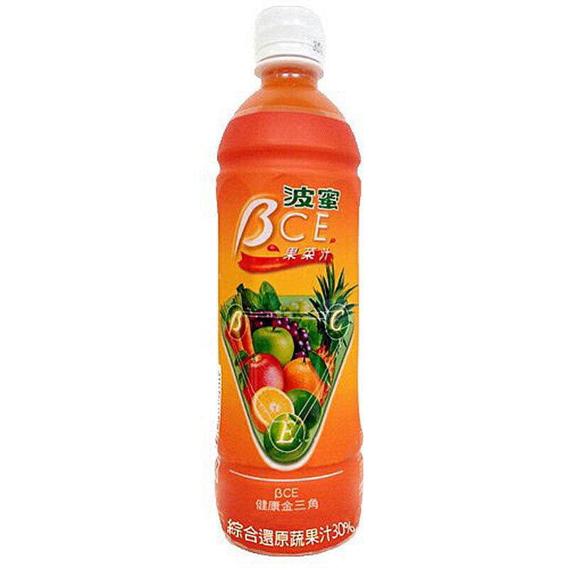 波蜜 BCE 果菜汁 580ml (24入)/箱【康鄰超市】