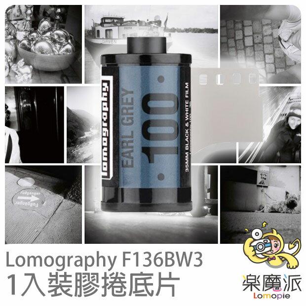 Lomography F136BW3 黑白色調膠捲底片 Earl Grey B&W 100 ISO 35mm (一入裝)