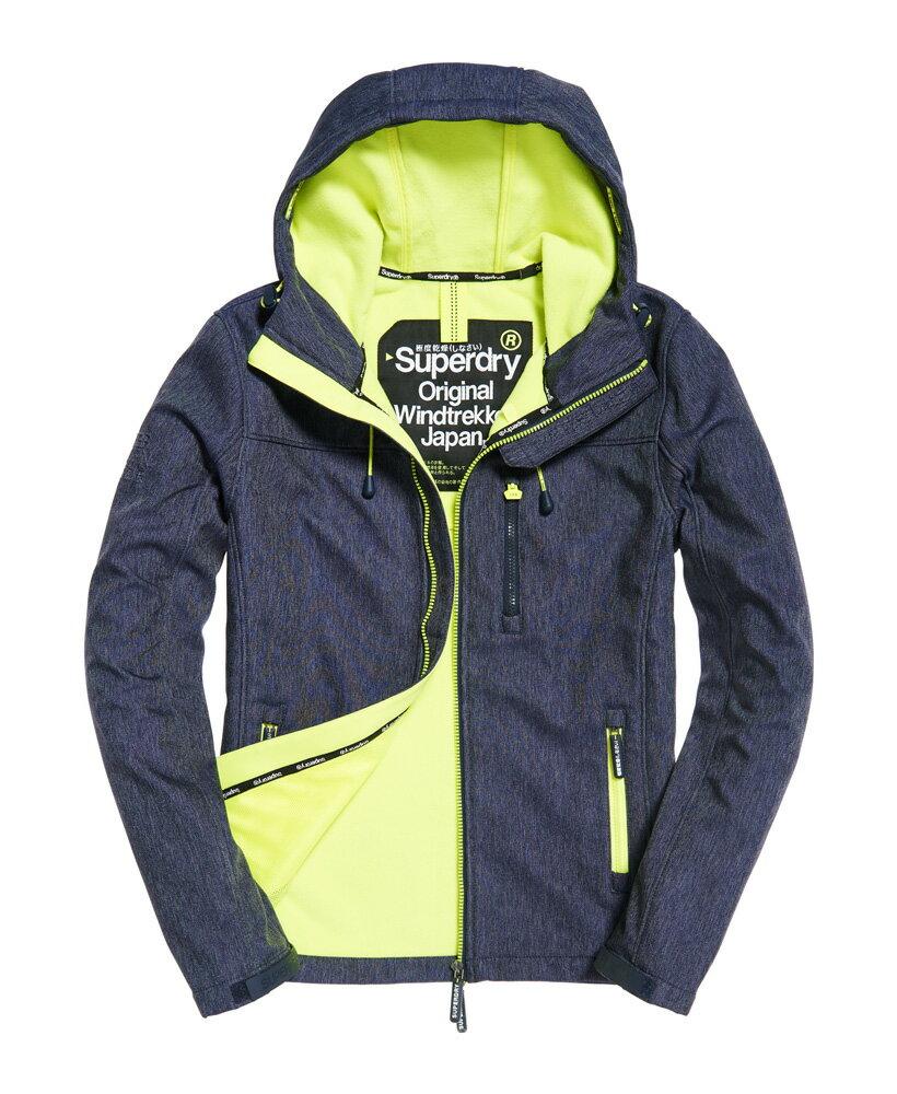 極度乾燥 Superdry SD-Windtrekker 連帽防風夾克薄款防風外套 防潑水機能衣 藍砂色/螢光黃