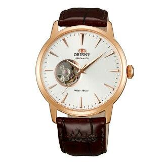 Orient 東方錶(FDB08001W)玫瑰金透視機械腕錶/白面41mm