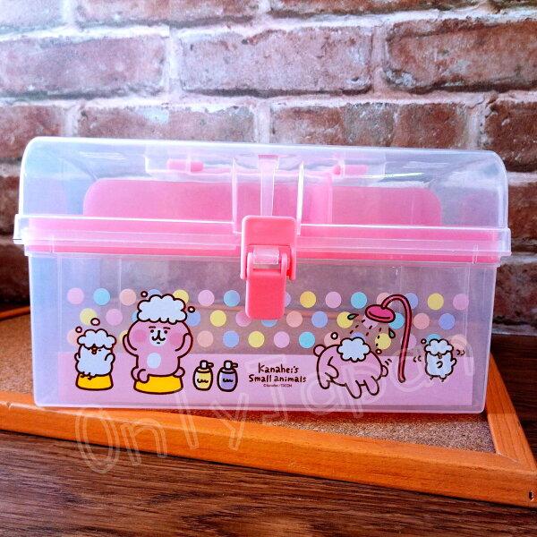 【真愛日本】18050700009手提置物盒-卡娜赫拉洗澡卡娜赫拉的小動物兔兔P助收納盒收納箱手提箱