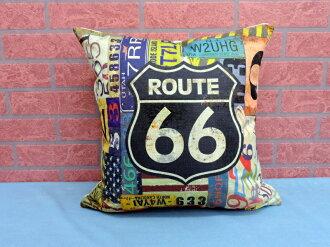 45X45棉麻沙發靠墊《LS11》另有美式鄉村66號公路棉麻抱枕 車用靠枕 含枕心 居家布置◤彩虹森林◥