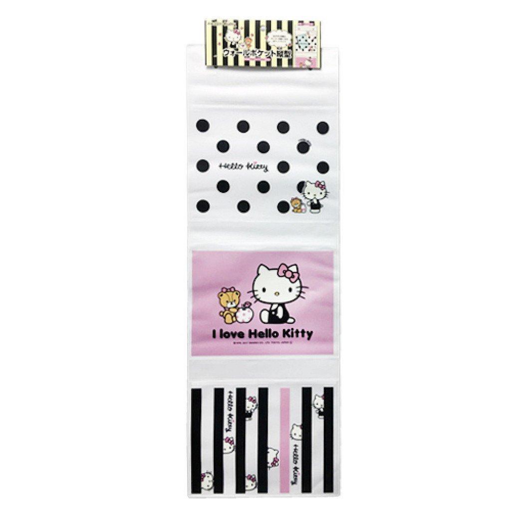 X射線【C573580】Hello Kitty 三格縱型壁掛袋,收納箱/掛袋/置物袋/雜物收納/收納袋