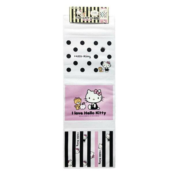 X射線【C573580】HelloKitty三格縱型壁掛袋,收納箱掛袋置物袋雜物收納收納袋