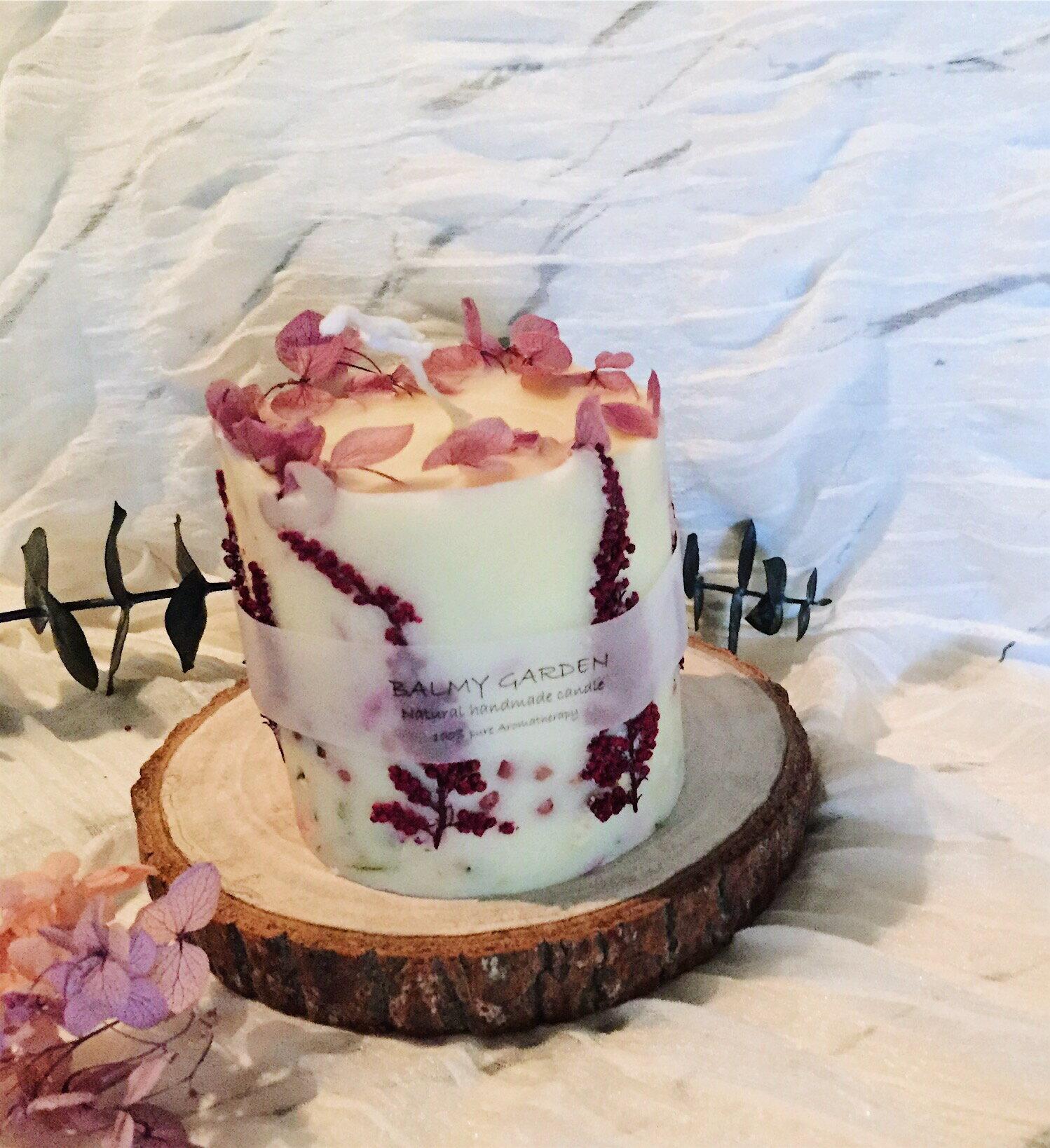 乾燥花藝香氛蠟燭   **天然大豆精油蠟燭**  香氛手工製作 情人節禮物 生日禮物 結婚送禮
