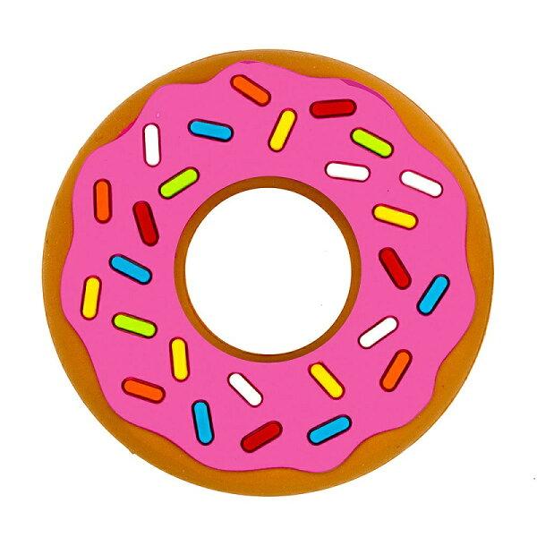 小奶娃婦幼用品:SilliChews-粉紅草莓甜甜圈咬牙固齒器