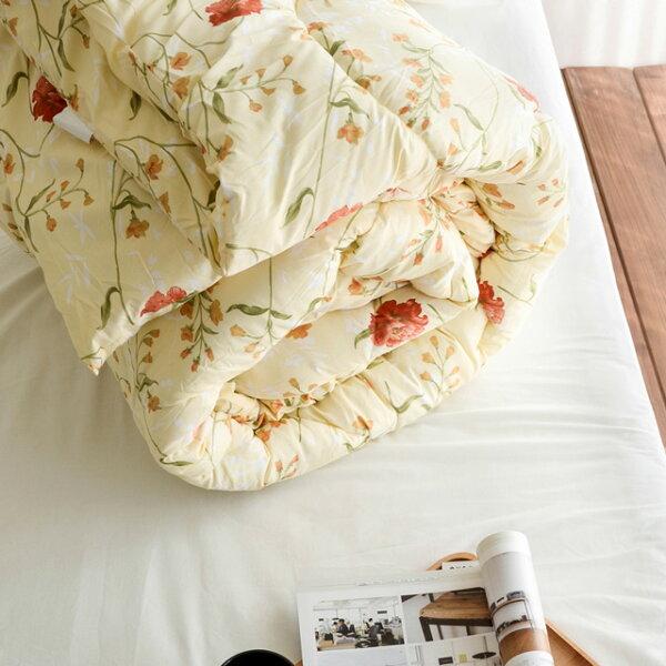 絲薇諾精品寢飾館:棉被【花蔓】科技羽絲絨被(雙人款2.6KG)-可水洗棉被絲薇諾