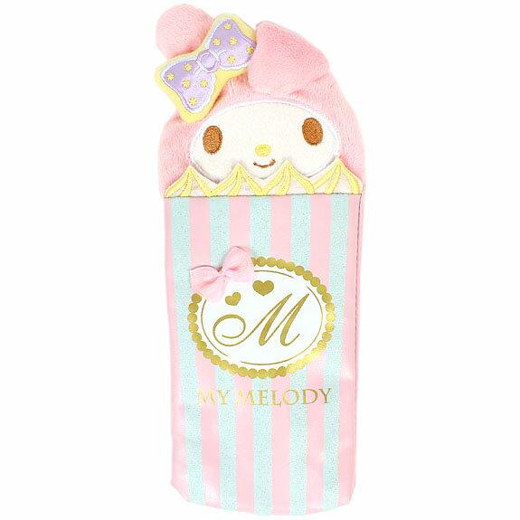 X射線【C528808】美樂蒂Melody 甜點筆袋,美妝小物包/筆袋/面紙包/化妝包/零錢包/收納包/皮夾/手機袋/鑰匙包