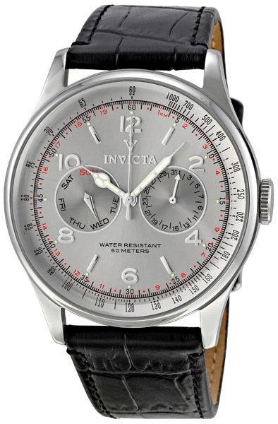 INVICTA復古系列-都會時尚風格腕錶(銀)