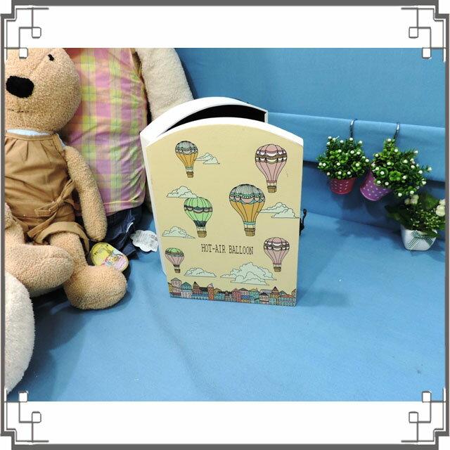 皮革KEY BOX《LK24-小2》熱氣球木製皮革鑰匙盒 收納盒 壁櫃 壁飾 居家布置◤彩虹森林◥