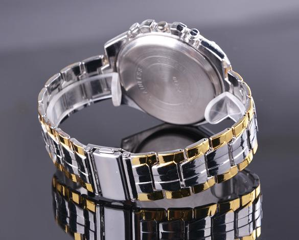 Stainless Steel  Quartz Clock Men's Wrist Watch 5
