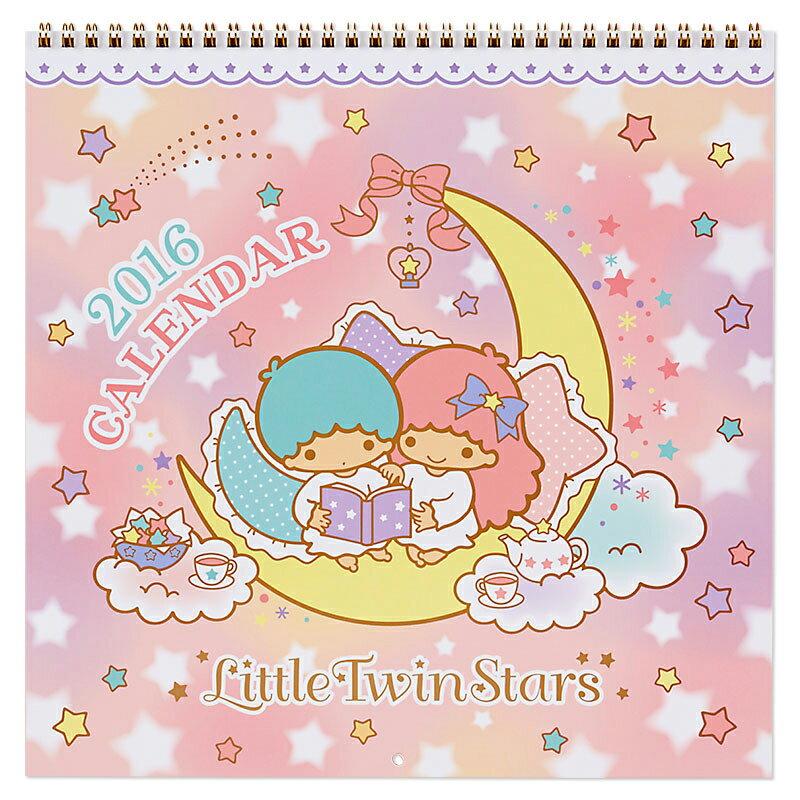 【真愛日本】15091800043 16線圈月曆-TS月亮看書 2016 萬年曆 行事曆 桌曆 雙子星