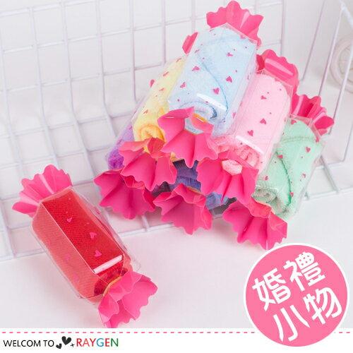 婚禮 純棉兒童小方巾 糖果毛巾 生日 創意小禮品【 2A29Y468】