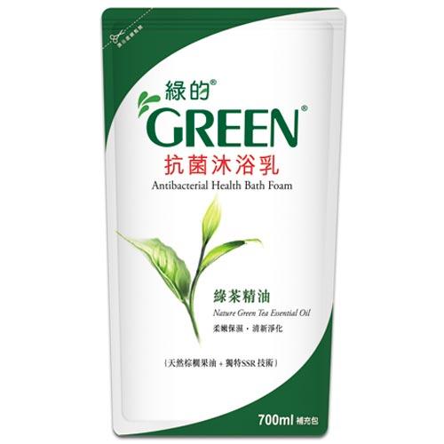 綠的GREEN抗菌沐浴乳補充包綠茶精油700ml