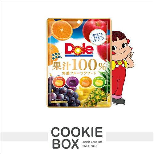 日本 不二家 Dole 綜合 糖果 70g 水果糖 果汁100% 蘋果 葡萄 橘子 進口 零食 *餅乾盒子*
