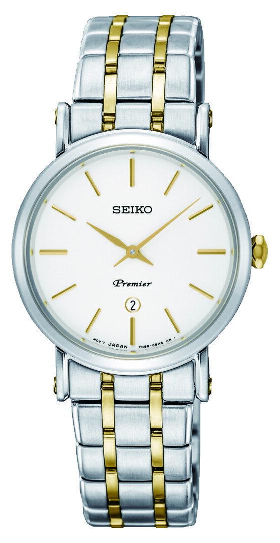 清水鐘錶 SEIKO 精工 Premier 系列超薄石英女錶 銀 雙色 7N89-0AY0Y(SXB438J1) 30mm