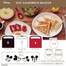 日本原裝DOSHISHA迪士尼米奇米老鼠特別版吐司機熱壓吐司機三明治機四種圖案HSR-70A聖誕禮物