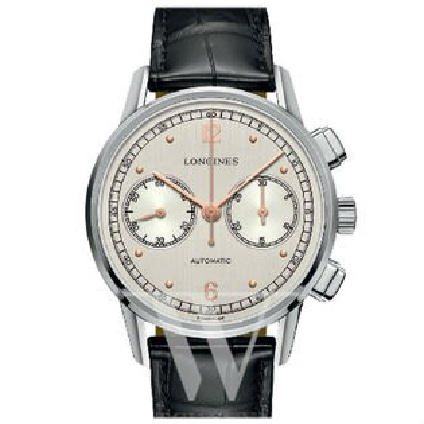 LONGINES浪琴表L28144760復刻系列典雅多功能腕錶白面41mm
