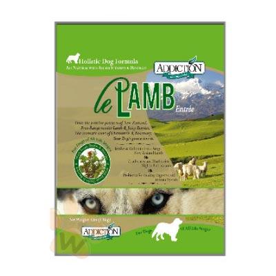 紐西蘭Addiction 自然癮食無穀野牧羊肉寵食犬糧15kg 1入