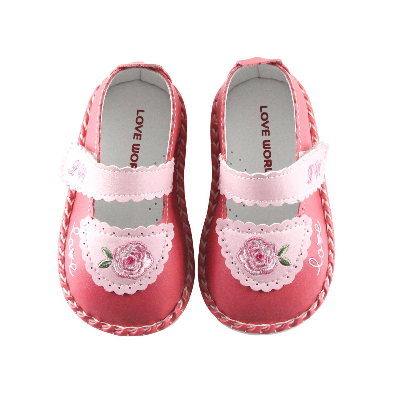 愛的世界寶寶鞋玫瑰小熊寶寶鞋