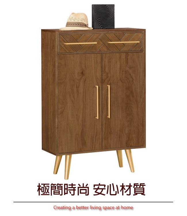【綠家居】范亞 時尚2.7尺二門二抽鞋櫃/玄關櫃