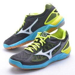 MIZUNO 18SS 進階款 排球鞋 SUPERSONIC V1GA184002 黑x藍x黃 贈防撞護膝【樂買網】
