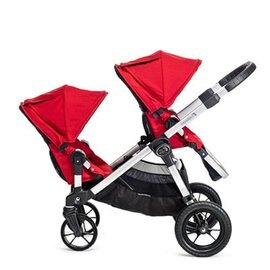 *babygo*美國Baby Jogger City Select 四輪嬰兒推車- 推車界的變形金剛【銀管紅】不含第二座椅