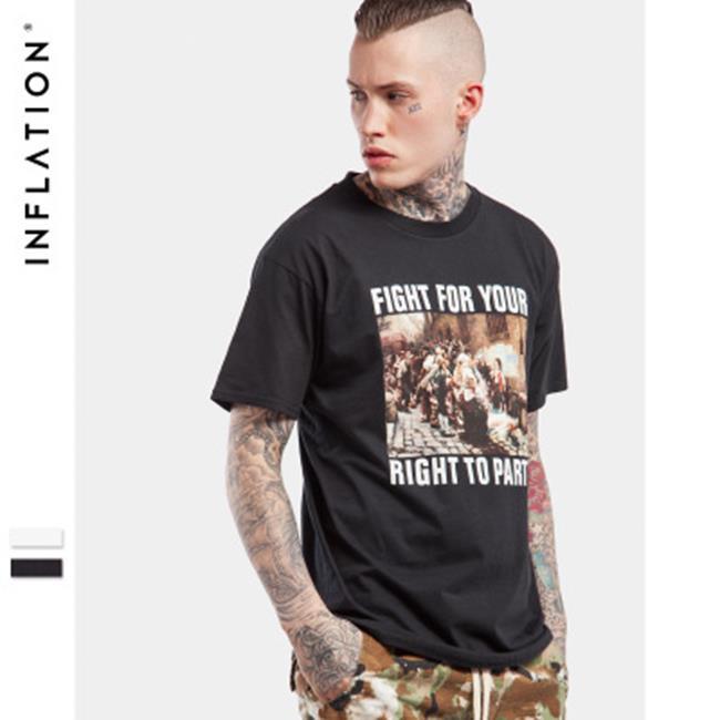 50%OFF SHOP【N022193C】2017春夏新款潮牌高清法國街頭照片復古懷舊男式短袖T恤