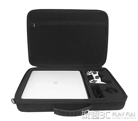 ps4包 ps4收納包 索尼PS4主機包slim VR PRO大容量單肩防震便攜手提包硬   【交換禮物】