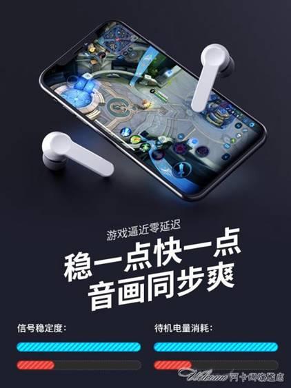 (快出)真無線藍芽耳機雙耳運動跑步入耳式隱形安卓通用掛脖頭戴式 艾琴海小屋  中秋節免運