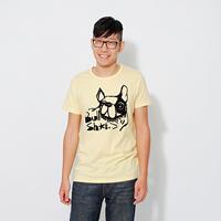 BullDog Bull 蜜桃棉 男T 短袖  鵝黃