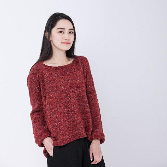 Darling 方形針織衫/紅