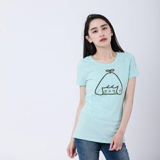 發芽綠小山 短袖 蜜桃棉 女T 水綠