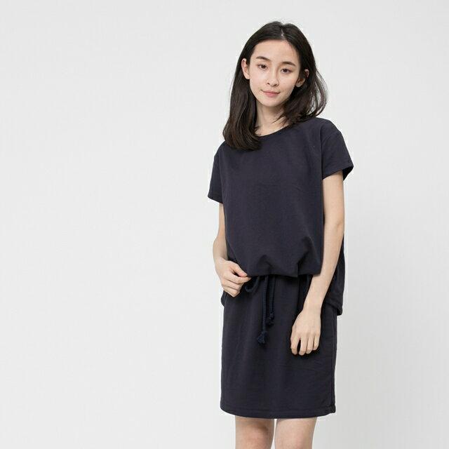 法國小毛圈衣裙洋裝 / 深藍 0