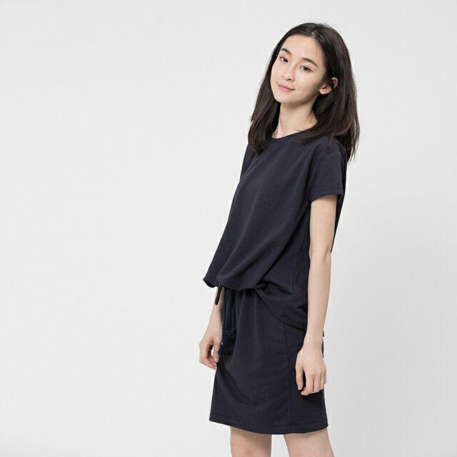 法國小毛圈衣裙洋裝 / 深藍 1