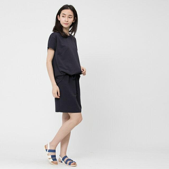 法國小毛圈衣裙洋裝 / 深藍 2