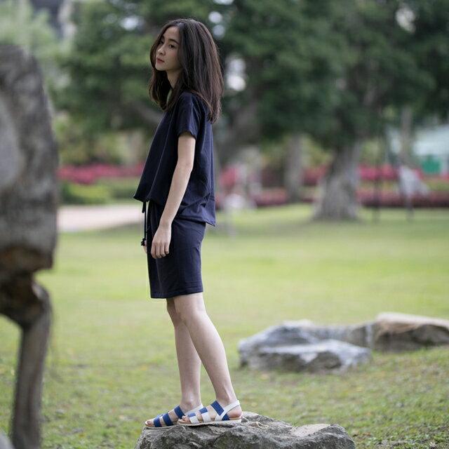 法國小毛圈衣裙洋裝 / 深藍 4